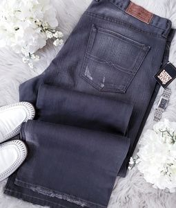 Lucky Brand Slim Bootleg Distressed Jeans